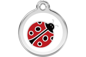 Ladybird Engraved Cat ID Tag by Red Dingo