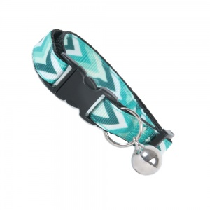 Teal Green Chevron Cat Safety Collar