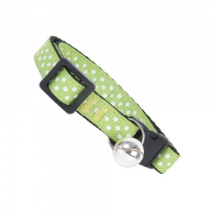 Green Dinky Dots Cat Safety Collar