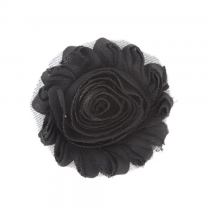 Liquorice Black Flower Accessory for Cat Collars