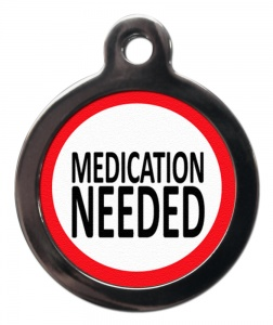Medication Alert Cat ID Tag