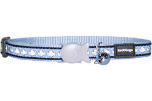 Light Blue Fish Reflective Cat Collar by Red Dingo