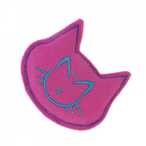 Pink Cat Shaped Pillow Catnip Toy