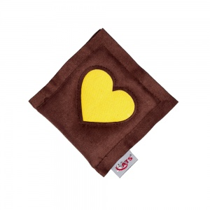 Heart Catnip Cushion - Yellow