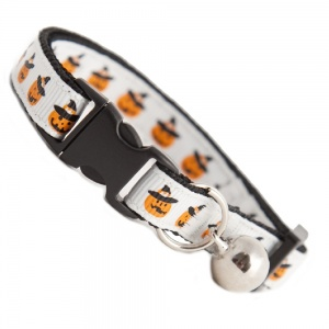Halloween Pumpkin Cat Collar
