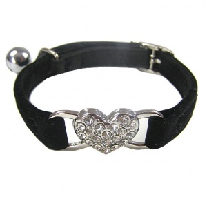 Black Sweetheart Cat Collar