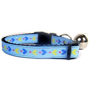 Blue Love Me Do Cat Collar