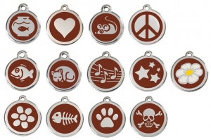 Brown Engraved Cat ID Tags