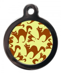 Funky Cats Cat ID Tag