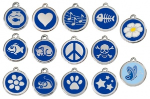 Dark Blue Engraved Cat ID Tags