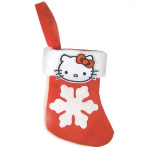 Kitty Little Christmas Cat Stocking | Snowflake