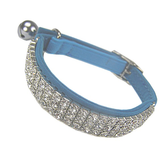 Posh Bling Cat Collar - Blue