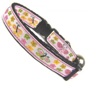 Pink Butterfly Collar for Cat