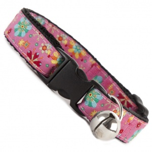 Floral Burst Cool Cat Collar - Pink