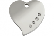 Diamante Cat Tag | Heart