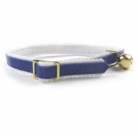 Blue Comfy Felt Cat Collar