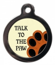 Talk to the Paw Cat ID Tag