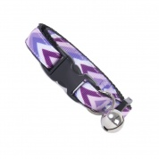 Purple Chevron Cat Safety Collar
