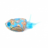 Feather Fish Catnip Cat - Blue