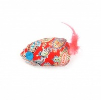 Feather Fish Catnip Cat - Red