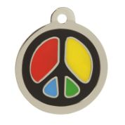 Peace Cat ID Tag