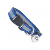 Extra Long Dark Blue Stripe Reflective Cat Collar