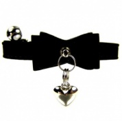Sweetheart Bow Velvet Cat Collar | Black