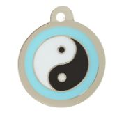 Blue Ying Yang Cat Tag