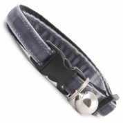 Mouse Grey Velvet Cool Cat Collar