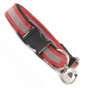 Extra Long Red Stripe Reflective Cat Collar