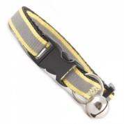 Extra Long Yellow Stripe Reflective Cat Collar