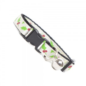 Festive Holly Cat Collar