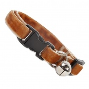 Fudge Brown Double Velvet Soft Cat Collar
