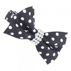 Black Spotty Bow Tie Cat Collar