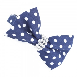 Blue Spotty Bow Tie Cat Collar