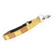 Bentley Yellow Leather Designer Cat Collar