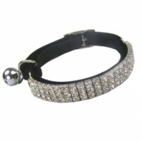 Posh Bling Cat Collar - Black