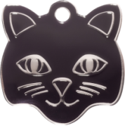 Black Cat Custom Engraved Cat Tag