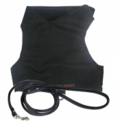 Black Soft Cat Harness and Walking Lead