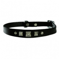 Black Rock Bobby Leather Cat Collar
