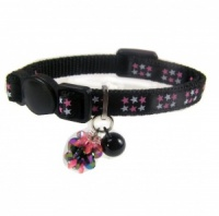 Black Star Luxury Short Kitten Cat Collar by Ancol