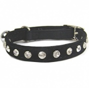 Quality Crystal Velvet Cat Collars | Black