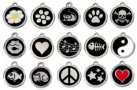 Black Engraved Cat ID Tags