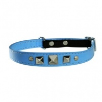 Blue Rock Bobby Leather Cat Collar