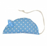 Cat Toy - Blue Dotty Catnip Mouse