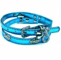Blue Funky Fish Cat Collars by Puchi