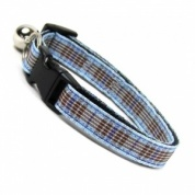 Blueberry Tartan Cat Collar
