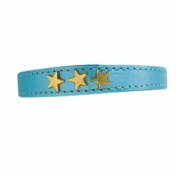 Leather Cat Collar for a Star - Bleu