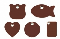Brown Plastic Cat ID Tags