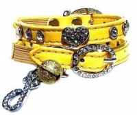 Buttercup Belle Diamante Heart Cat Collar by Puchi